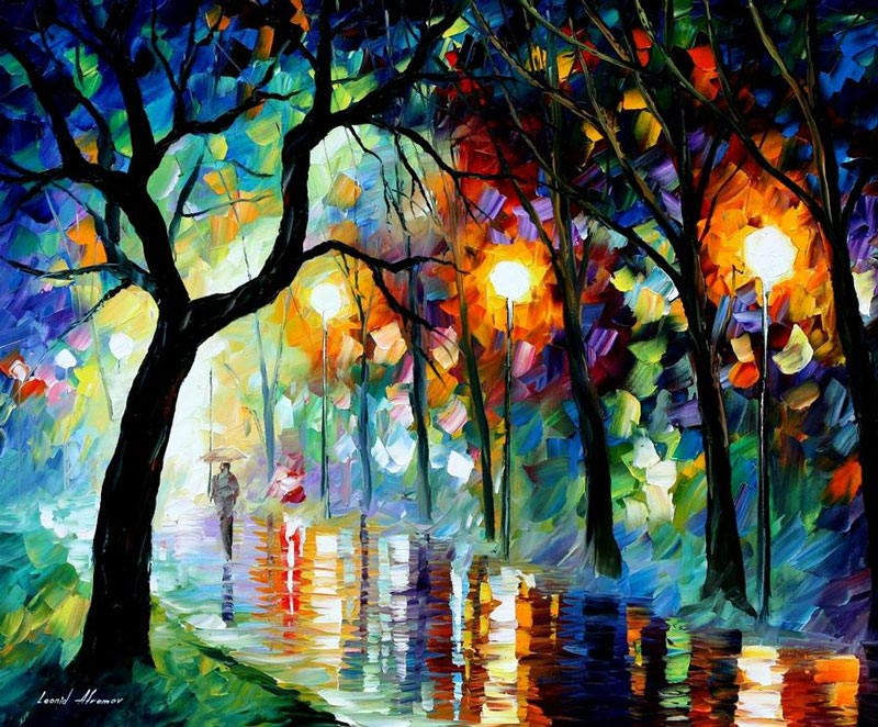 oil painting using only a paltete knife leonid afremov 11 Breathtaking Oil Paintings Using Only a Palette Knife