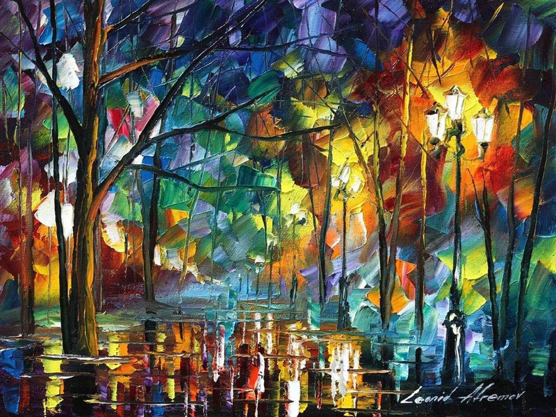 Breathtaking Oil Paintings Using Only a Palette Knife ...