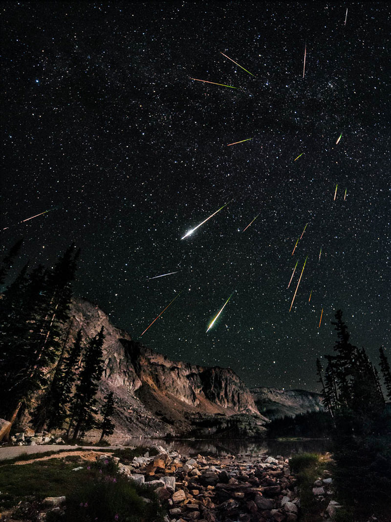 perseid meteor shower snowy range wyoming The Top 75 Pictures of the Day for 2012