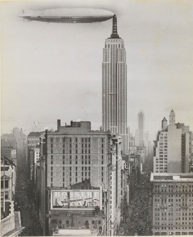 photo manipulation before digital age unknown artist dirigible docked on empire state building 15 Photo Manipulations Before the Digital Age