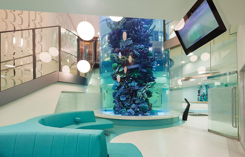 royal childrens hospital aquarium melbourne australia These Kid Inspired Hospital Interiors are Simply Awesome