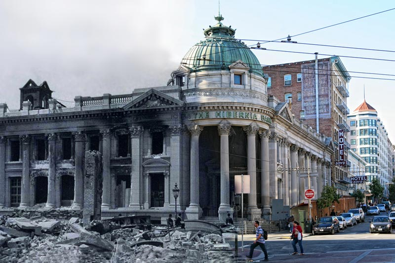 san francisco earthquake photos blended into present day 1 San Francisco Earthquake Photos Blended Into Present Day