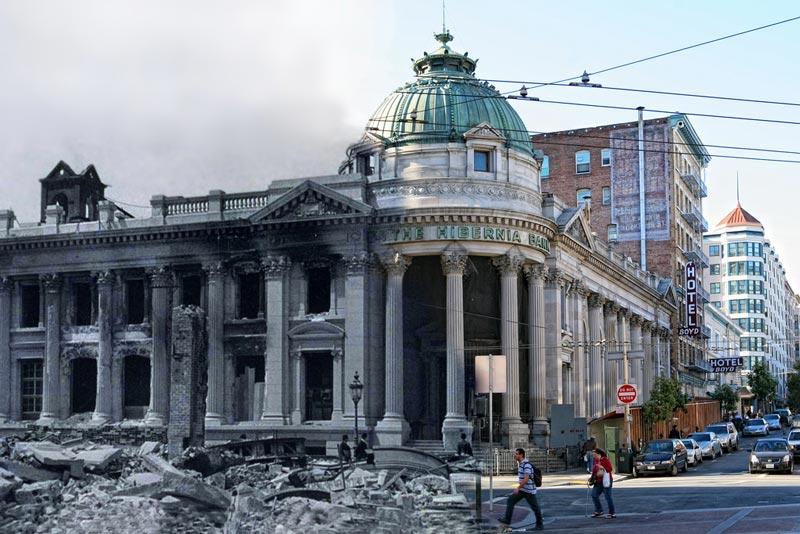 san francisco earthquake photos blended into present day 1 San Francisco Earthquake Photos Blended Into Present Day