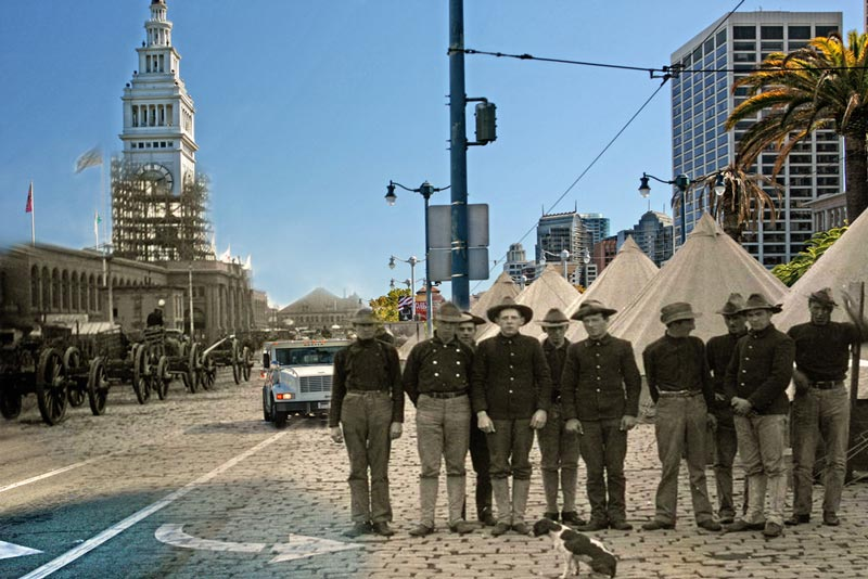 san francisco earthquake photos blended into present day 3 San Francisco Earthquake Photos Blended Into Present Day