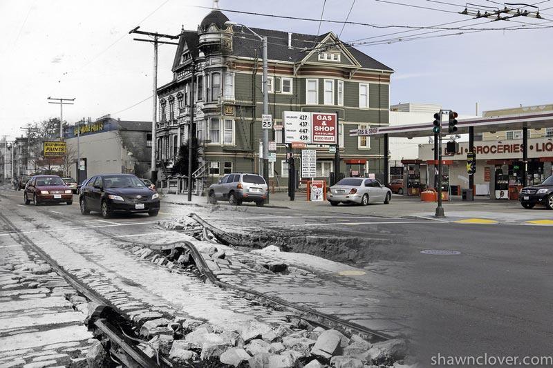 san francisco earthquake photos blended into present day 8 San Francisco Earthquake Photos Blended Into Present Day