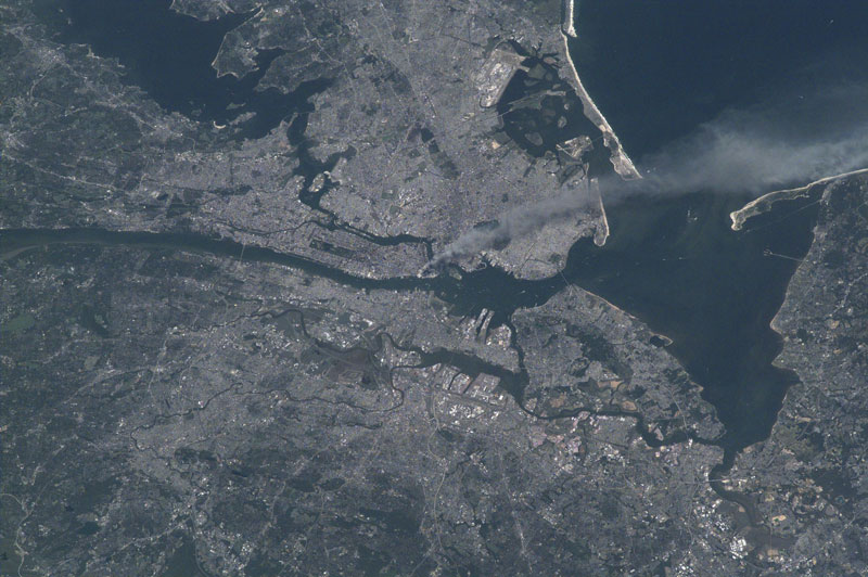 september 11 attacks from space Picture of the Day: The Only American Not on Earth on Sept 11