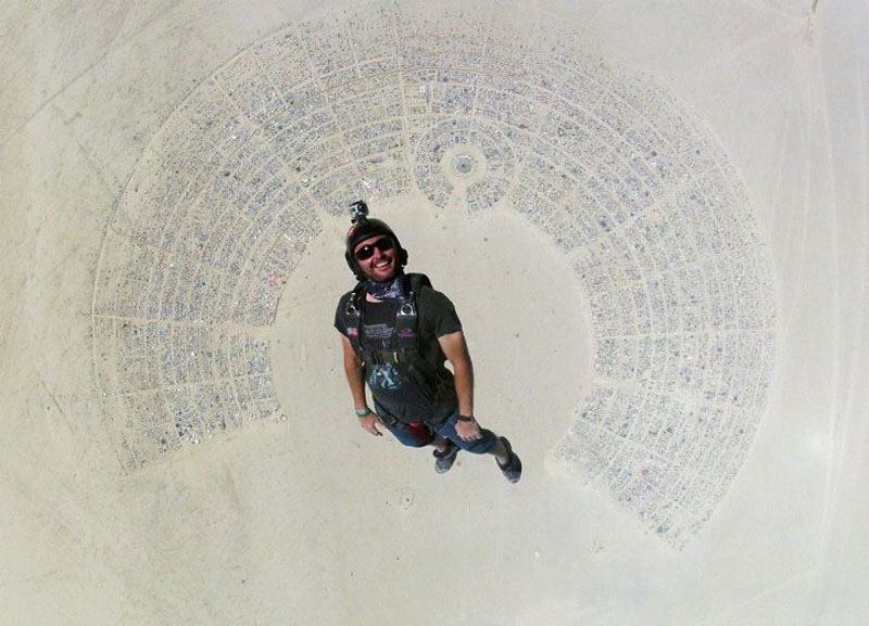 Picture of the Day: Skydiving Into Burning Man