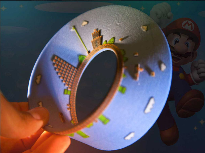super mario mobius strip first level 11 3D Printed LEGO Block Blended into a Chipped Step