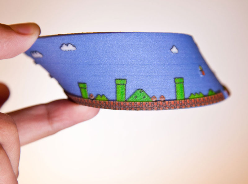 super mario mobius strip first level 5 3D Printed Mobius Strip of the 1st Level of Super Mario Bros