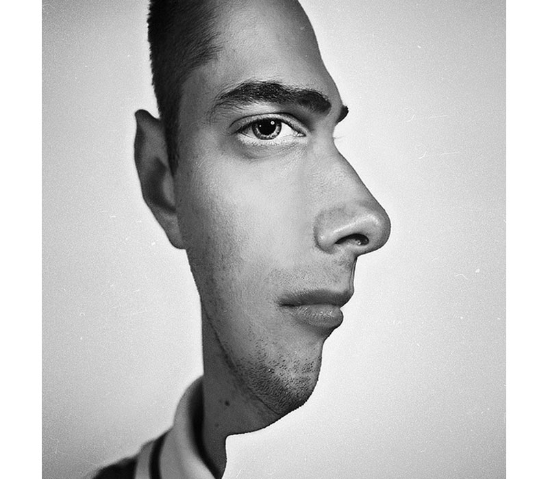 trippy profile pic portrait head on and from side angle Picture of the Day: One Trippy Profile Pic