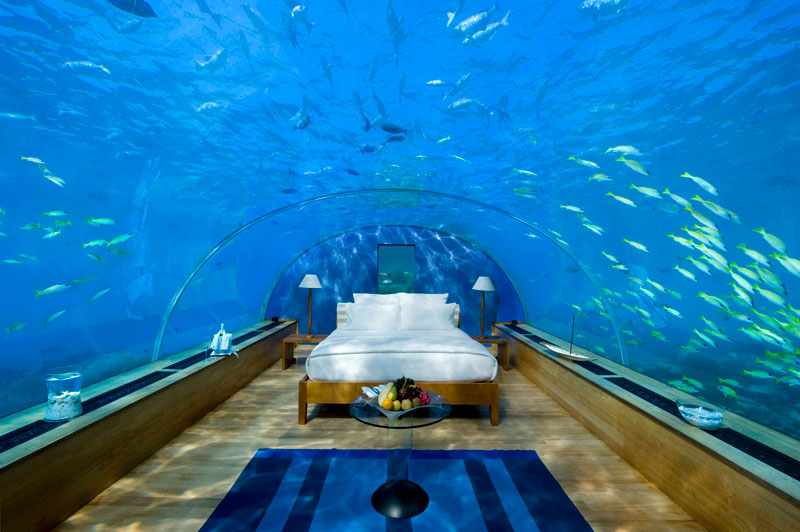 underwater hotel room conrad maldives rengali island resort 1 Ithaa: The Underwater Restaurant in the Maldives