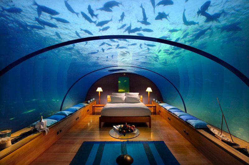 underwater hotel room conrad maldives rengali island resort 2 Ithaa: The Underwater Restaurant in the Maldives