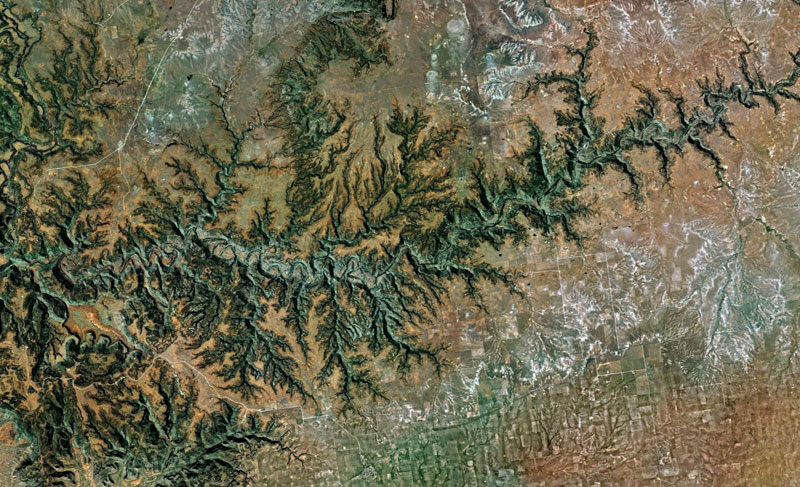 usa google earth fractals Fractal Patterns in Nature Found on Google Earth