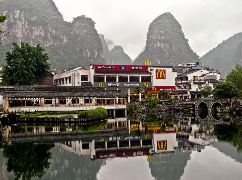 yangshuo china mcdonalds in the mountains The Most Unusual McDonalds Locations in the World