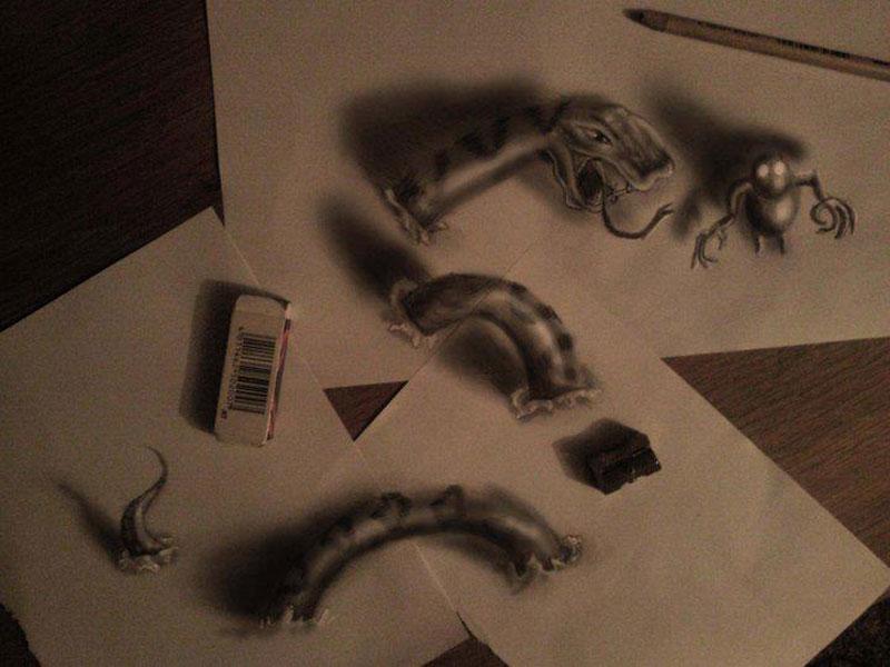 anamorphic 3d drawings ramon bruin 5 Anamorphic 3D Drawings by Ramon Bruin