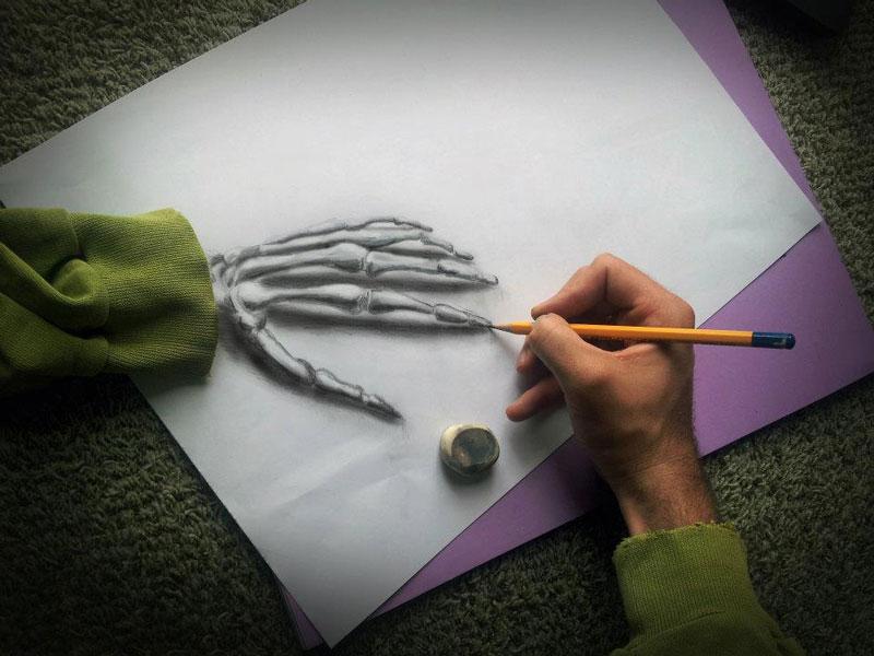 anamorphic 3d drawings ramon bruin 6 Anamorphic 3D Drawings by Ramon Bruin