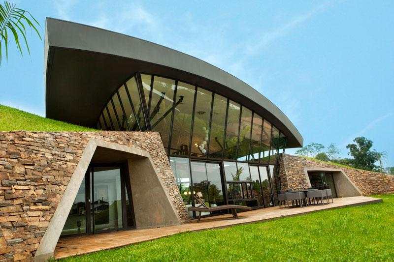 bauen architects hillside home built into landscape paraguay 13 A Unique Hillside Home Built Into the Landscape