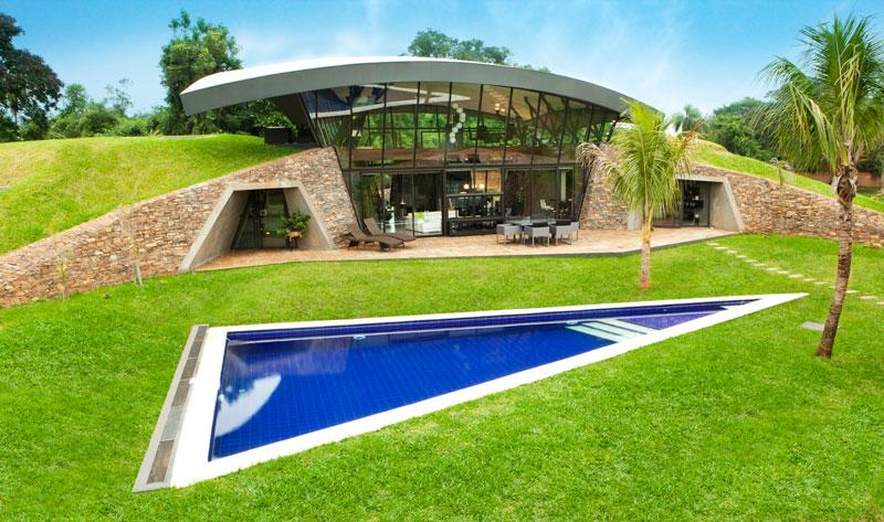 bauen architects hillside home built into landscape paraguay 15 A Unique Hillside Home Built Into the Landscape