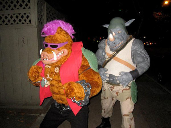 bebop and rockstead halloween costume 23 Funny and Creative Halloween Costumes