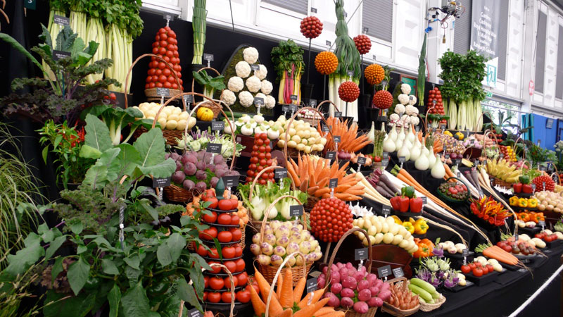 chelsea flower show vegetable display 12 Artful Displays of Vegetables