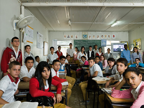 cuba havana playa year 9 national television screening of film e28098can gambae28099 about cuban participation in angolan revolution classroom portraits julian germain 18 Classroom Portraits Around the World