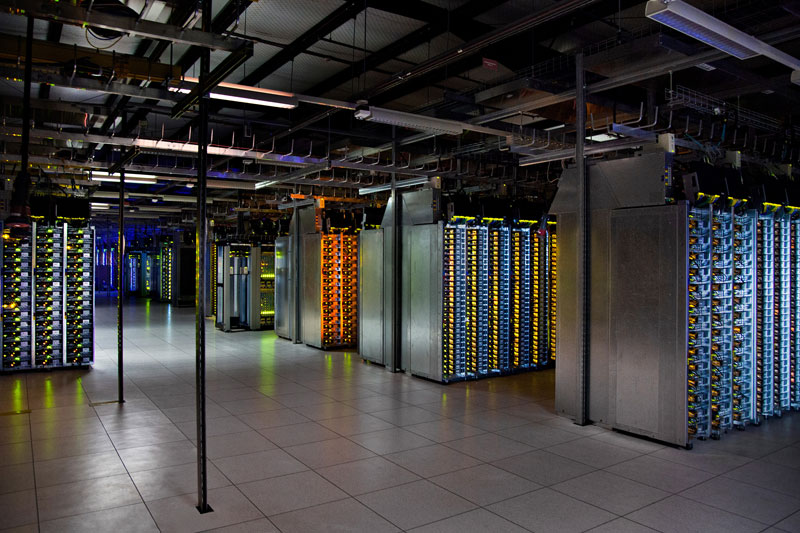 dalles oregon data center server room A Photo Tour of Google Data Centers Around the World