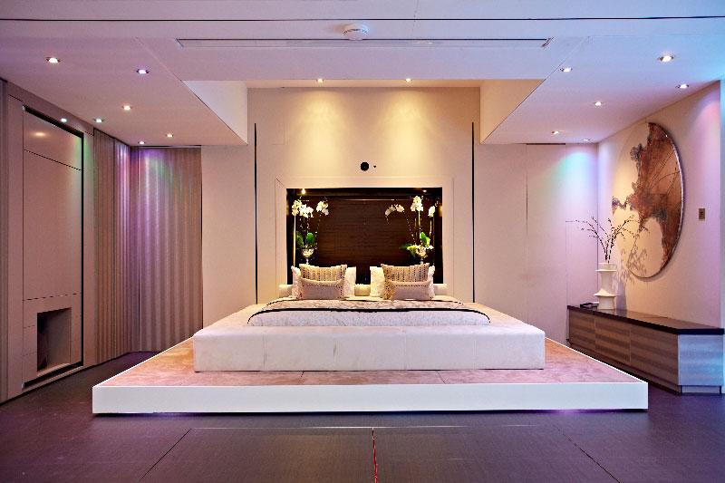 elevator bed rises to reveal sunken living room twistedsifter. Black Bedroom Furniture Sets. Home Design Ideas