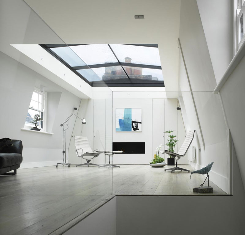 house with window for roof retractable ceiling chelsea london 9 House in  London With a Retractable