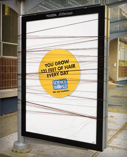 interesting science facts on billboards science world vancouver bc outdoor ooh ads rethink 20 25 Billboards with Fascinating Science Facts