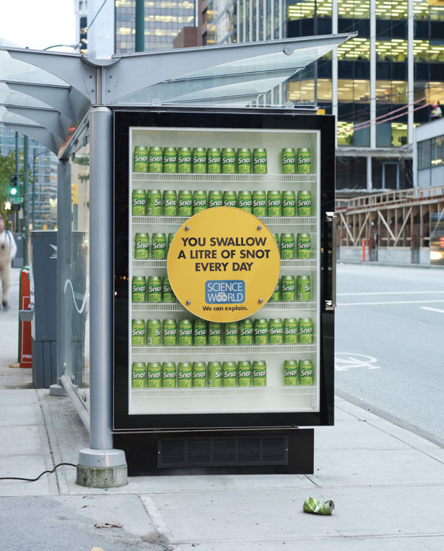interesting science facts on billboards science world vancouver bc outdoor ooh ads rethink 4 25 Billboards with Fascinating Science Facts