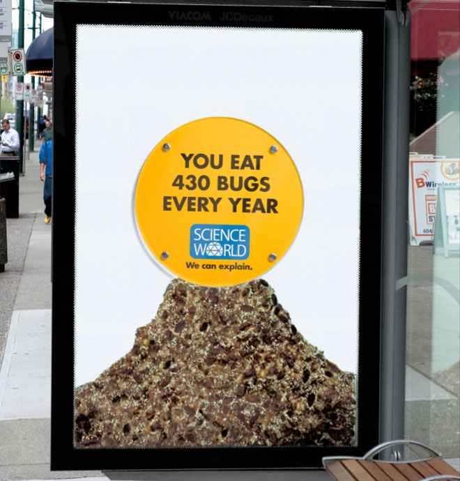 interesting science facts on billboards science world vancouver bc outdoor ooh ads rethink 7 25 Billboards with Fascinating Science Facts