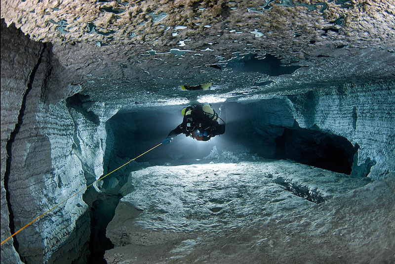 longest underwater cave in russia ordinskaya orda cave 10 Exploring the Longest Underwater Cave in Russia