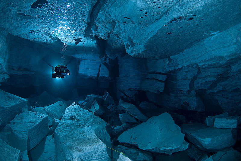 longest underwater cave in russia ordinskaya orda cave 11 Exploring the Longest Underwater Cave in Russia