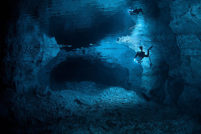longest underwater cave in russia ordinskaya orda cave 2 Exploring the Longest Underwater Cave in Russia