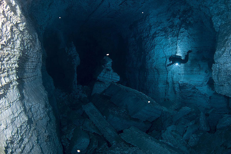 longest underwater cave in russia ordinskaya orda cave 4 Exploring the Longest Underwater Cave in Russia