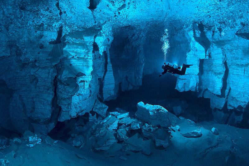 Exploring the Longest Underwater Cave inRussia
