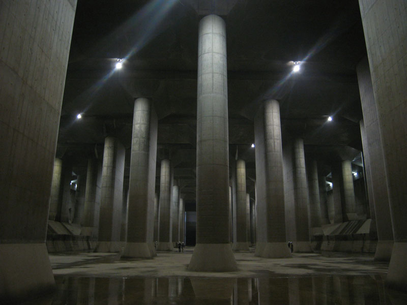 metropolitan area outer underground discharge channel worlds largest underground flood water diversion facility Picture of the Day: Subterranean Super Columns in Japan