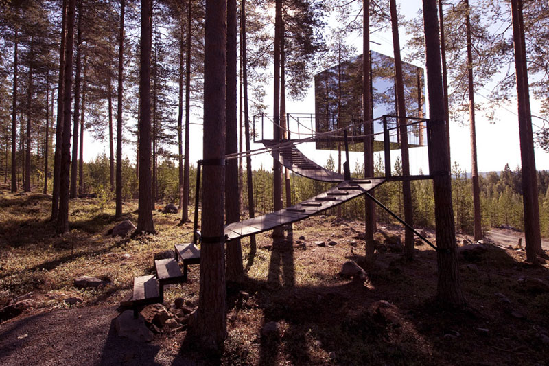 mirror cube treehotel sweden 1 The Longest Tree Top Walk in the World