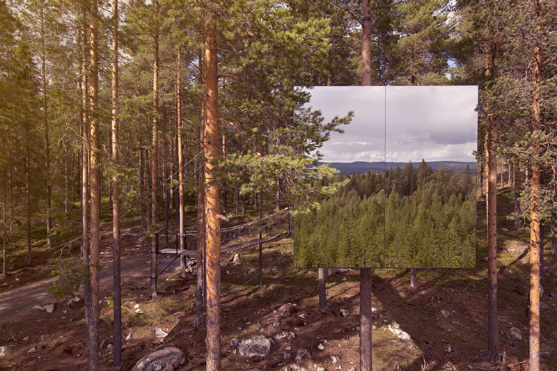 mirror cube treehotel sweden 4 The Treehotel in Sweden for Nature Lovers