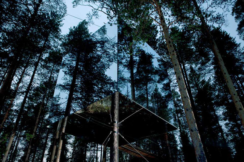 mirrorcube treehouse sweden treehotel 2 The Treehotel in Sweden for Nature Lovers