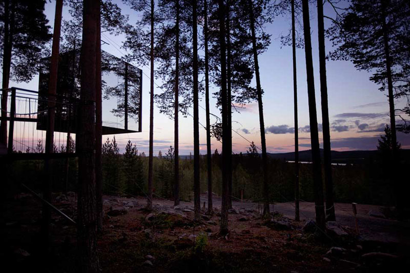 mirrorcube treehouse sweden treehotel 3 The Treehotel in Sweden for Nature Lovers