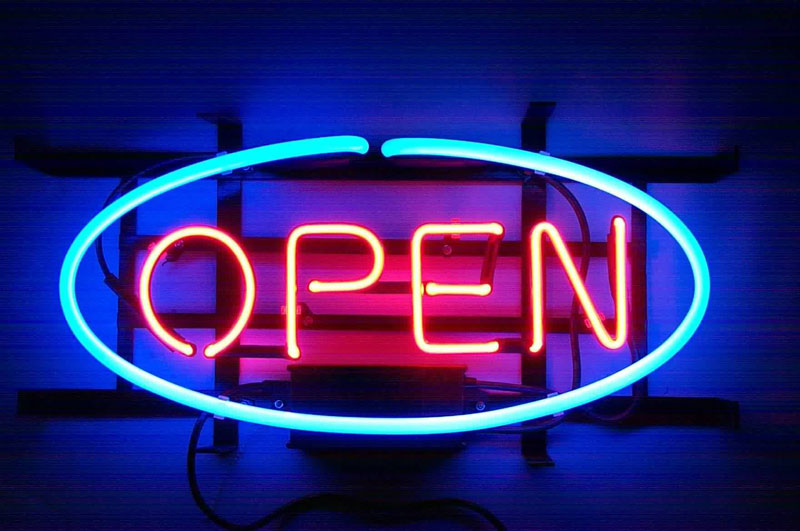 neon open sign What if Movie Posters Were Neon Signs?