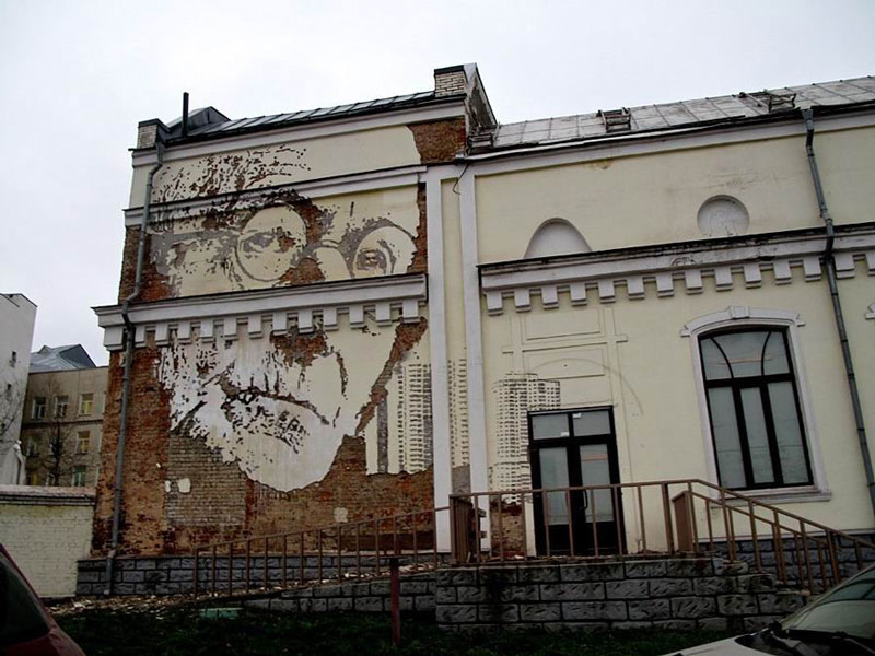 portraits chiseled into walls street art vhils alexandre farto 1 15 Street Art Portraits Chiseled Into Walls