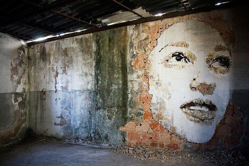 portraits chiseled into walls street art vhils alexandre farto 10 15 Street Art Portraits Chiseled Into Walls
