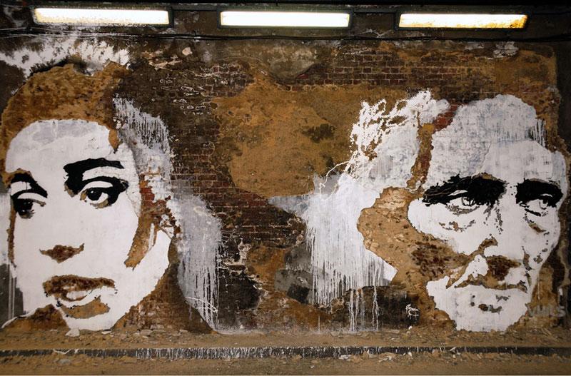 portraits chiseled into walls street art vhils alexandre farto 15 15 Street Art Portraits Chiseled Into Walls