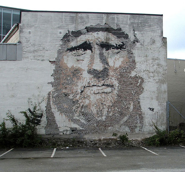 portraits chiseled into walls street art vhils alexandre farto 8 One Line Portraits by Quibe