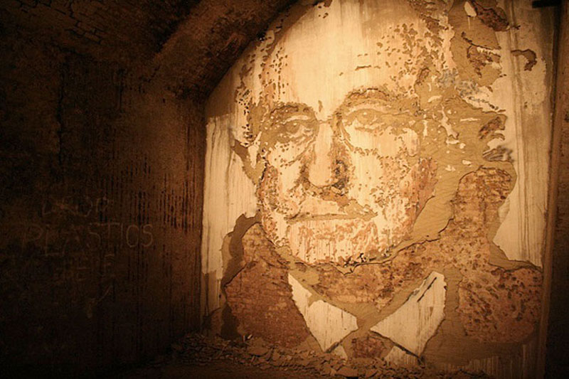 portraits chiseled into walls street art vhils alexandre farto 9 The Water Activated Oak Tree Mural in Hartford