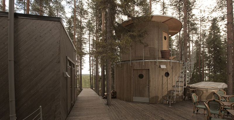 sauna hut treehotel sweden 1 The Treehotel in Sweden for Nature Lovers