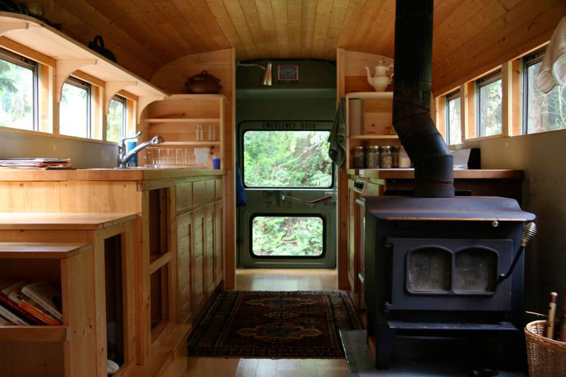 school bus conversion into mobile home 5 School Bus Converted Into Mobile Home