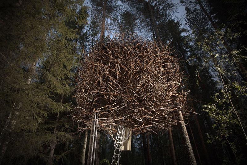 sweden tree hotel birds nest room 2 The Treehotel in Sweden for Nature Lovers